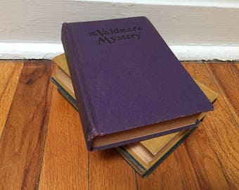 Purple Book The Valdmere Mystery or the Atomic Ray Vintage Antique 1929 Distressed Hardcover
