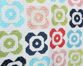 Flower Garden Quilt Pattern (Paper)
