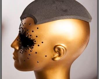 Extra Long Fascinator Hat Base Black... Base For Headdress Hat Millinery Foam DIY
