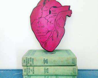 Anatomical Heart Cutout Art