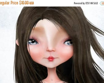 "50% Off SALE 5x7 Premium Fine Art Print  -""Amber Jeanne Takes Flight"" - Little Raven Haired Girl in Red Dress - Signed Giclee Art Print"