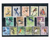 Birds Postage Stamp Collection | magpie, kingfisher, owl etc - bird lover postal stamps from Hong Kong & China | topical thematic philately