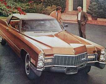 1968 Cadillac and American Tourister Advertisement
