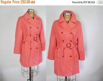 SALE PINK Trench Coat Jacket Spy / Medium