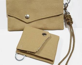 2 Ways Flap Wallet, Travel wallet, Passport Wallet, Passport Case, Canvas Wallet, Chain Wallet, Backpacker Gifts, Gift Under USD15 - FS