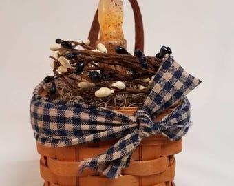 Longaberger Basket with Timer Candle