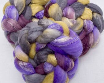Merino, Soybean, Hand dyed tops, hand dyed roving, Soy silk,  fibre, felting projects, felting materials, fiber, spinning wool, spinning
