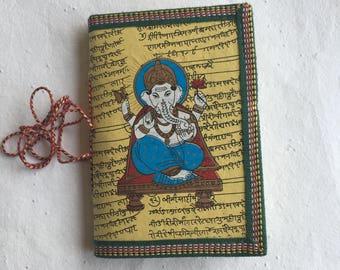 Ganpati Journal, College student gift, Brother Gift, Yellow Ganesha, Boyfriend gift, Husband Gift, Indian Journal, Hindu Journal, Yoga Book