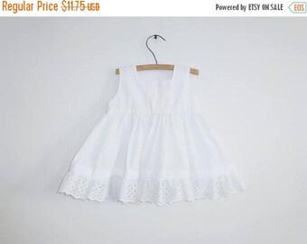 SALE // Vintage White Baby Sundress