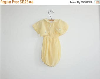 SALE // Vintage Yellow Romper