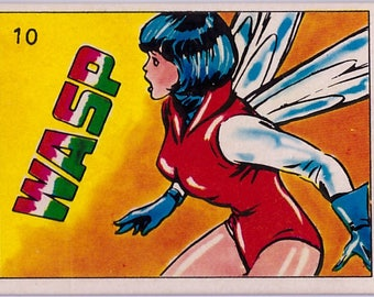 Rare 1980 Marvel Super Heroes Wasp 10 Sticker