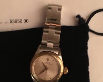 Ladies 24MM 18K Yellow Gold and Stainless Steel Rolex with Oyster Band