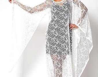 40% OFF CLEARANCE SALE The Deadstock 60s White Lace Woodstock Dress