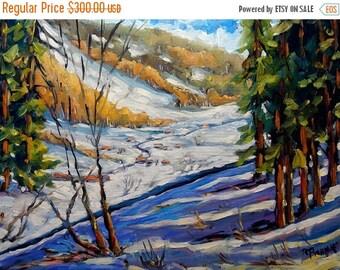 On Sale Winter Wonderland - Fine arts Original Oil Painting by Richard T. Pranke