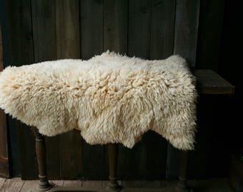 Vintage Lambswool / Sheepskin Rug/ Chair Pad /Or Wall Hanging Vintage From Nowvintage on Etsy