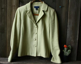 Vintage Jacket Sage Green Charters Club Lined Spring Summer Fashion Medium Vintage From Nowvintage on Etsy