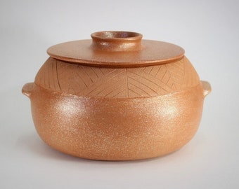 NEW - Casserole 4.5 qt., Handmade Micaceous Pottery Cookware, Ceramic Ovenware, Rice Pot, Flameware, Made in Santa Fe, Clay Soup Pot