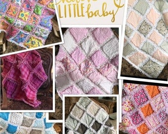 Baby rag quilts-Baby Blankets-baby gifts-baby boy gifts-baby shower gift-new baby gift-rag quilt-crib bedding-nursery decor-flannel blankets