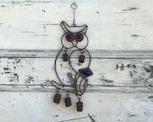 Vintage Rusty Metal Owl Wind Chime - Rustic Wind Chime - Wind Chime - Windchimes - Bell Wind Chimes - Rusty Bell - Cow Bell Wind Chimes -