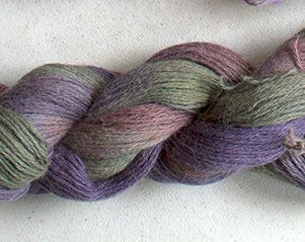 Alpaca Cotton Lace, Hand Painted yarn, 300yds - November