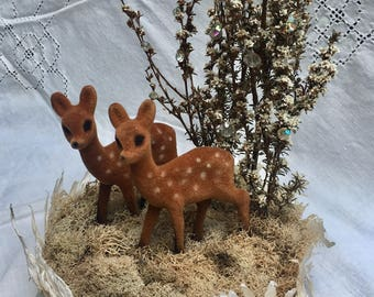 "Ready to ship: 5"" Deer Wedding Cake Topper Winter White"