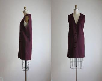 plum wool dress