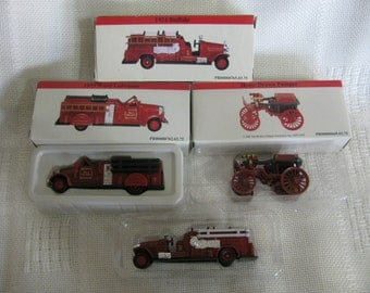 Miniature Fire Truck Collectables Set of 3 Reader's Digest Assn.