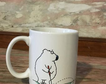 Christmas Sale Vintage GOLF Mug Humorous Hallmark 80s Coffee Cup Shoebox Greetings Bowers