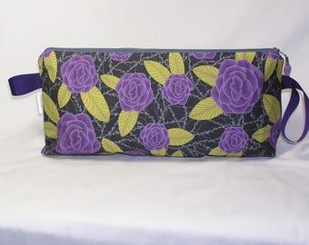 Purple Cabbage Flower Anna Clutch - Premium Fabric