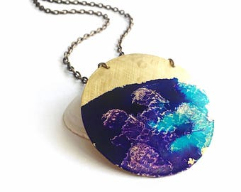 Sunset Beach Necklace - Watercolor Patina