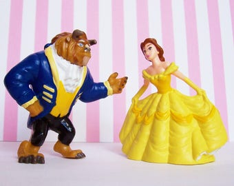 Beauty and Beast Figurines Applause 1990's