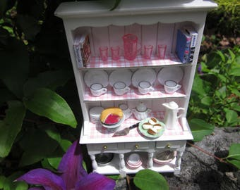 Pink and White Shabby Hutch