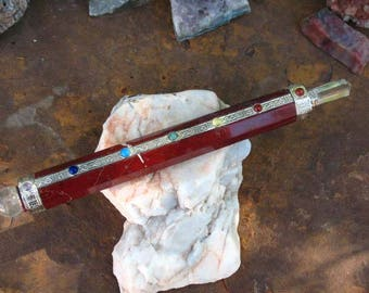 Red Jasper Chakra Wand~Stone and Crystal~Ritual Tool