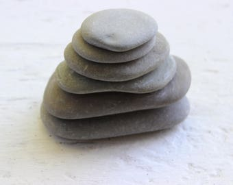Stacking Stones , Make Your Own Zen Cairn , Loose Lake Stones for Sculpting and Garden Decoration ZC6