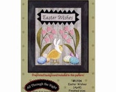 Easter Wishes (April), by Bonnie Sullivan, All Through the Night Wool Applique Pattern - Quilt Pattern