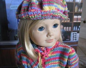 Kit's Historical Era Dress, Shrug, and Beret Set for 18 Inch Dolls like American Girl Dolls