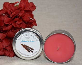 Natural Soy Candle, Cinnamon Scented Soy Candle, Cinnamon Soy Container Candle