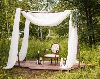Woodland Wedding Photography Booth Arch Drape Playhouse Treehouse Home Decor Scarf