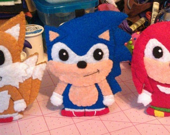 Sonic the hedgehog, Knuckles and Tails