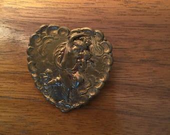 Vintage Angels Mythological Heary Shaped Pin