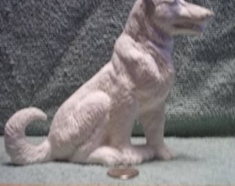 German Shepherd Dog in Ceramic Bisque Ready to Be Painted
