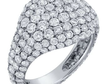 2ctw Pave Pinky Ring With Natural Diamonds FR400