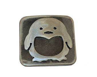 Penguin Belt Buckle / Belt Buckles for Women / Belt Buckles for Men / Gift for Penguin Lover/by WATTO Distinctive Metal Wear / Unique Buckle