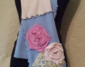 Re purposed CASHMERE scarf HANDMADE