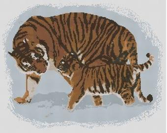Tiger Tales Cross Stitch Chart