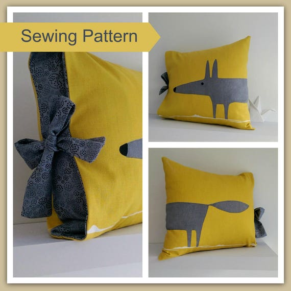 Simple Tied Cushion Cover Sewing Pattern by Lillyblossom. Suitable for beginners easy to make. & Simple Tied Cushion Cover Sewing Pattern by Lillyblossom. pillowsntoast.com