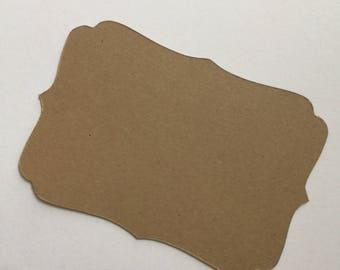"Blank Paper Tag in Kraft Brown Card Tag(3"" X 2"") 24pc"
