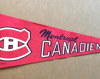 1970 Montreal Canadiens NHL Hockey Pennant Canada National Hockey League