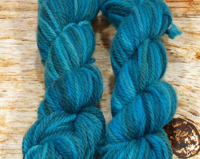 "Wee Llineage Worsted "" Undine "" Semisolid Hand Dyed Yarn 20 g / 50 yd"