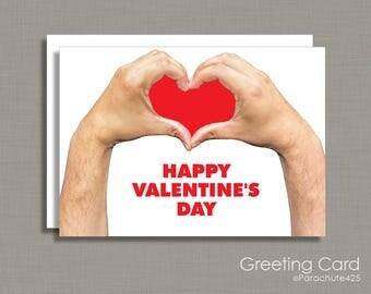 Valentine's Day, Valentine Card, funny Valentine, handmade Valentine, card for artist, card for crafter, card for maker, i heart you, snarky
